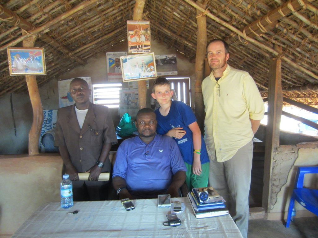 Photo op with Simon (left) and the Ndaka chief (center)